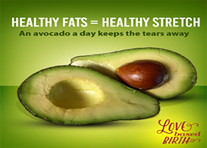 healthy fats = healthy stretch. An avocao a dat keeps the tears away.