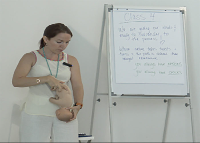 Red Miller teaching antenatal Love Based Birth birthing class