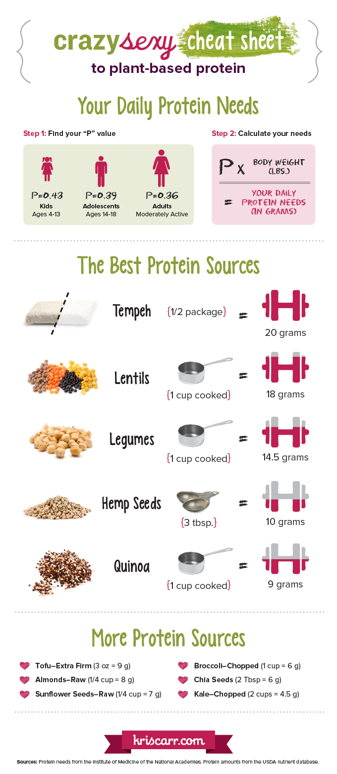 Plant-based Protein sources and dosages